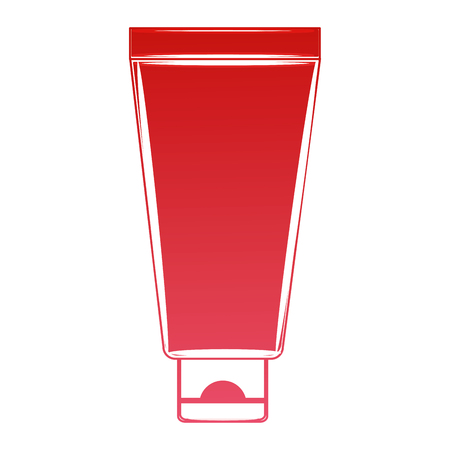 cream or lotion cosmetic tube for skin care product vector illustration red design