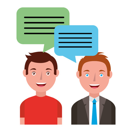 people with speech bubbles vector illustration design
