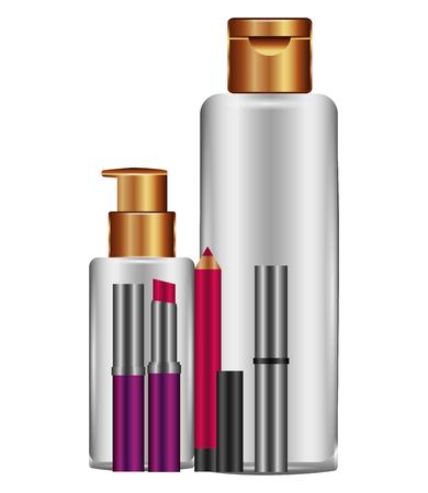 accessories female make up vector illustration design