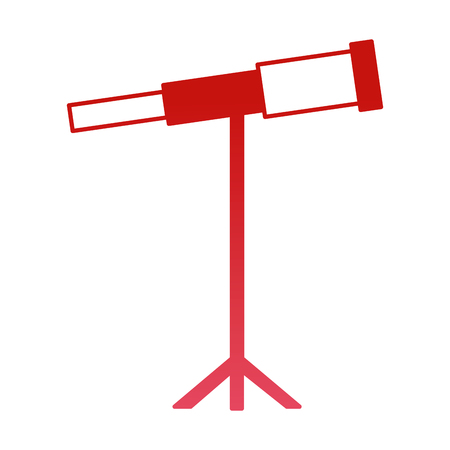 telescope science instrument optical image vector illustration red design Ilustração