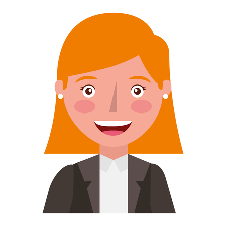 head elegant businesswoman avatar character vector illustration design