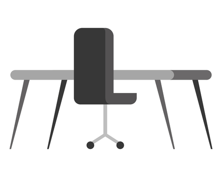 office chair with desk isolated icon vector illustration design Foto de archivo - 100996611
