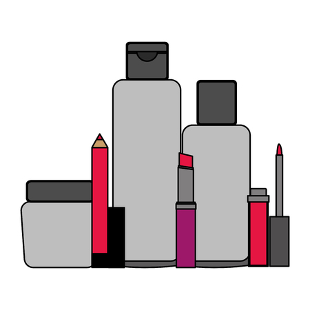 cosmetic makeup products beauty fashion set vector illustration Stock fotó - 101043770