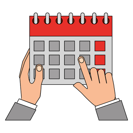 hands holds calendar reminder date vector illustration Illustration