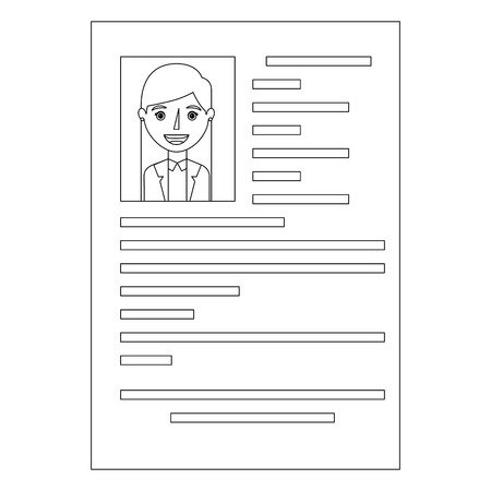 curriculum vitae with photo of woman isolated icon vector illustration design 写真素材 - 101043899