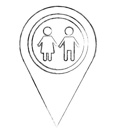 school zone pointer gps navigation location image vector illustration sketch Illustration