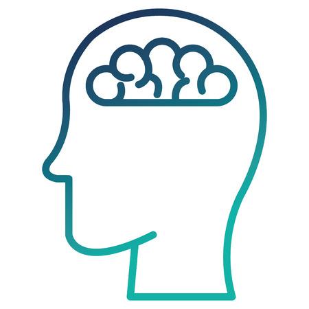 Human profile with brain vector illustration design Ilustracja