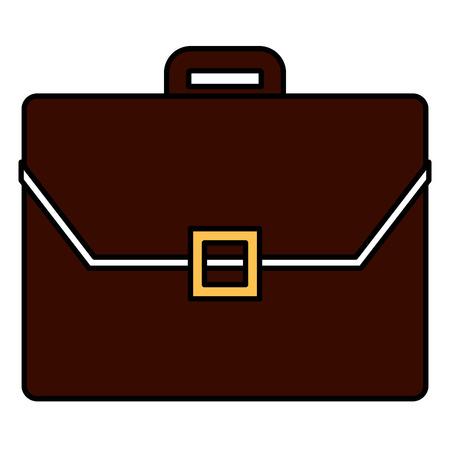 Portfolio briefcase isolated icon vector illustration design