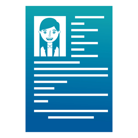 female resume document employment occupation vector illustration neon design Иллюстрация