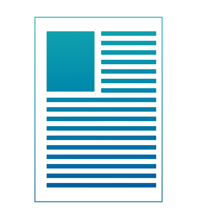 document resume paper template image vector illustration neon design Иллюстрация