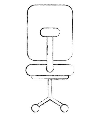 office chair furniture wheels image vector illustration sketch