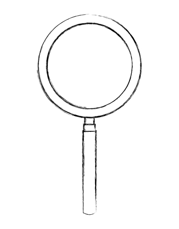 magnifying glass zoom search handle image vector illustration sketch