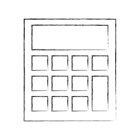 school calculator math finance device vector illustration sketch