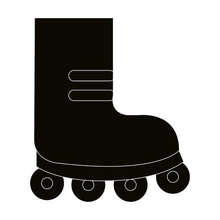 Skate wheels isolated icon vector illustration design