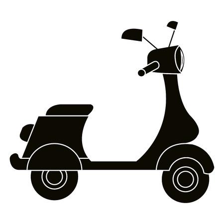 Scooter motorcycle vehicle icon vector illustration design Stock Illustratie