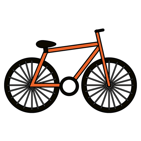 Bicycle vehicle isolated icon vector illustration design  イラスト・ベクター素材