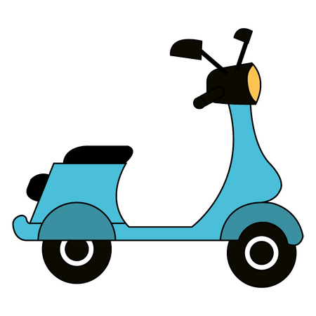 Scooter motorcycle vehicle icon vector illustration design Ilustração