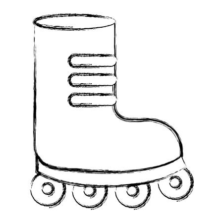 skate wheels isolated icon vector illustration design Illustration