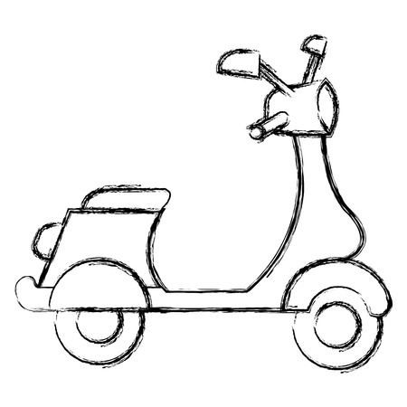 scooter motorcycle vehicle icon vector illustration design