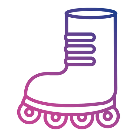 A skating shoe isolated icon vector illustration design