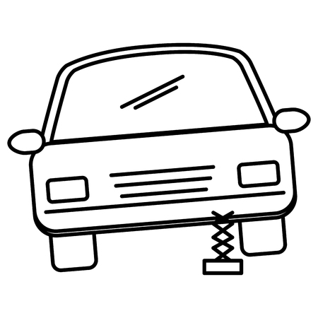 A car sedan changing wheel vector illustration design Ilustrace