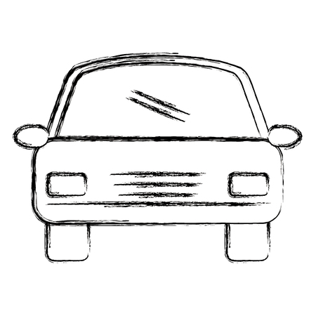 A car sedan vehicle icon vector illustration design