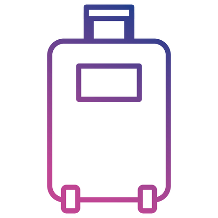 A suitcase isolated icon vector illustration design