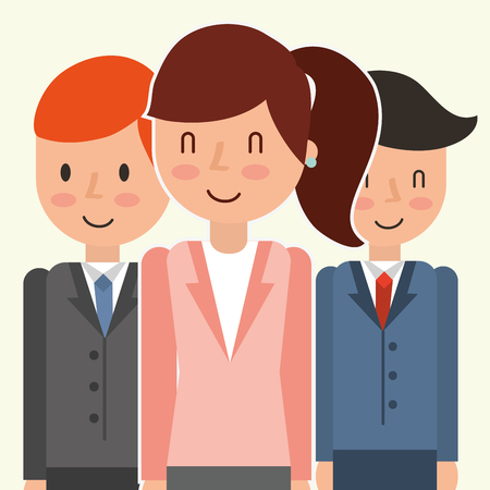 Business people group avatars characters vector illustration