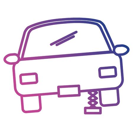 Car sedan changing wheel vector illustration design Reklamní fotografie - 101050019