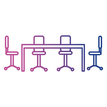 board room business meeting scene vector illustration design