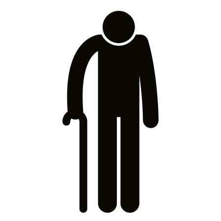 grandfather silhouette avatar character vector illustration design Illustration