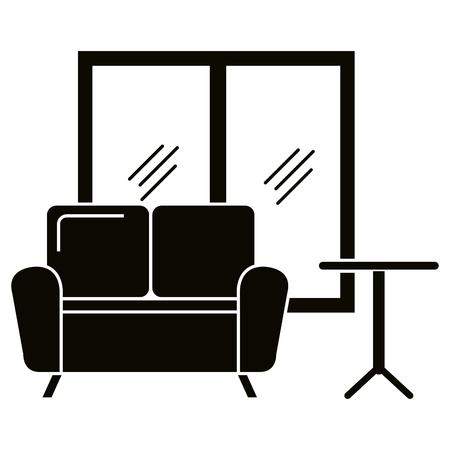 Home living room scene icons vector illustration design. Stock Vector - 101060960