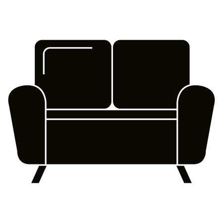 Living room sofa isolated icon vector illustration design. Stock Vector - 101060961