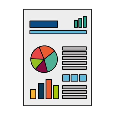 Hand drawn finance document paper icon vector illustration design