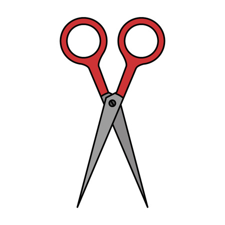 scissors school supply icon vector illustration design