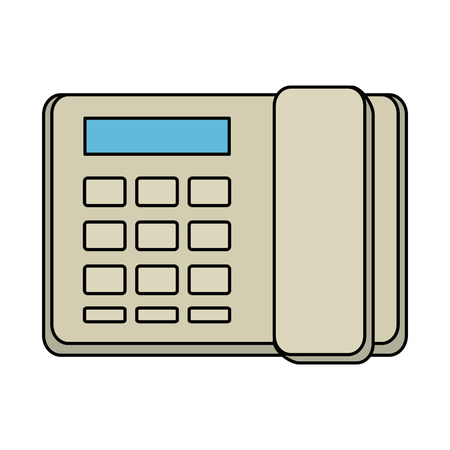 telephone office isolated icon vector illustration design