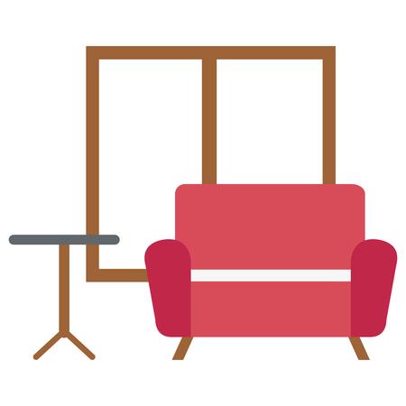 Home livingroom scene icons vector illustration design Stock Vector - 101057371