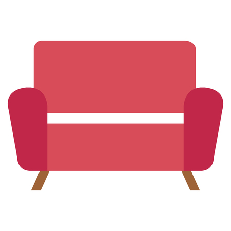 Living room sofa isolated icon vector illustration design
