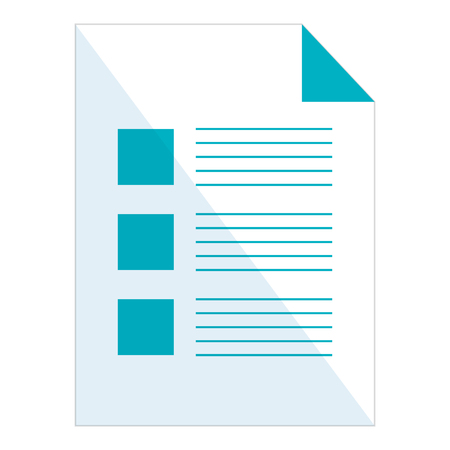 Paper document isolated icon vector illustration design Illustration