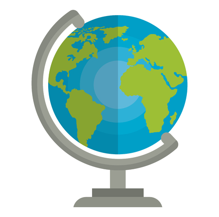 Hand drawn world planet earth icon vector illustration design Ilustracja