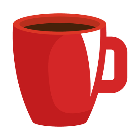 Hand drawn coffee cup isolated icon vector illustration design