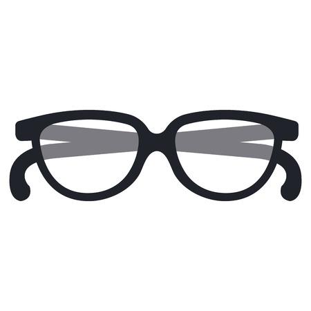 Hand drawn eye glasses isolated icon vector illustration design