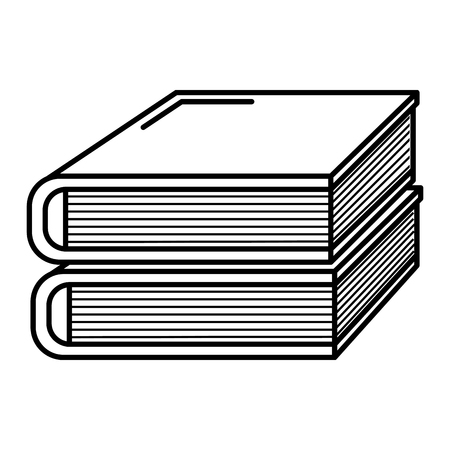 books school pile icon vector illustration design