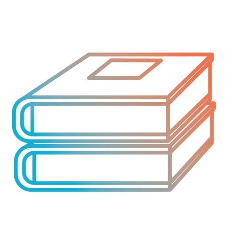 Books school pile icon vector illustration design.  イラスト・ベクター素材