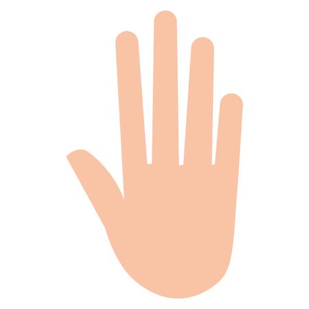 hand human isolated icon vector illustration design Çizim