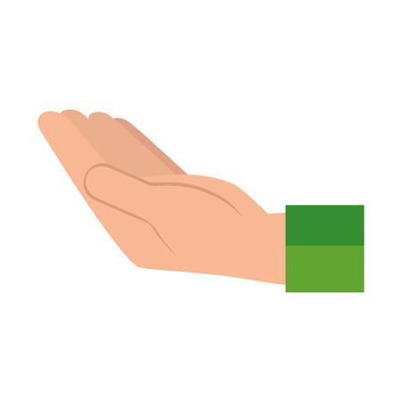 Hand drawn hand human receiving icon vector illustration design