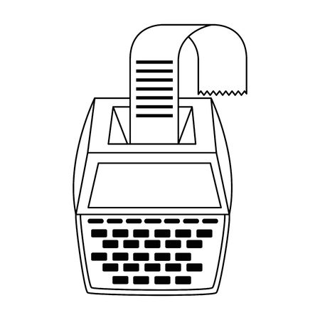 calculator machine with receipt vector illustration design