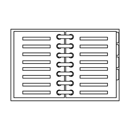 Notebook school isolated icon vector illustration design.