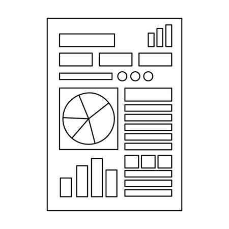 Finance document paper icon vector illustration design.