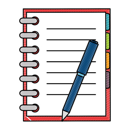 office notebook with pen vector illustration design Illustration